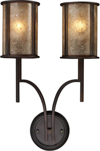 Elk Lighting Barringer 2-Light Wall Sconce Aged Bronze with Translucent Glass 150302