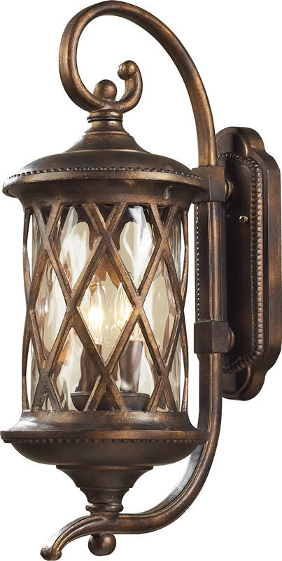 24h barrington gate 2 light outdoor wall lantern hazelnut bronze water