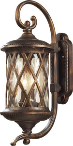 Elk Lighting Barrington Gate 2-Light Outdoor Wall Lantern Hazelnut Bronze/Water 420312