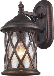 "13""h Barrington Gate 1-Light Outdoor Wall Lantern Hazelnut Bronze/Water"