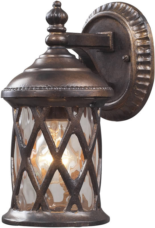 "10""h Barrington Gate 1-Light Outdoor Wall Lantern Hazelnut Bronze"