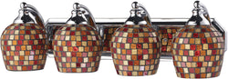 Elk Lighting 4-Light Bath Vanity Polished Chrome with Multi Mosaic Glass 5704CMLT