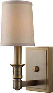 Elk Lighting Baxter 1-Light Wall Sconce Brushed Antique Brass 31260/1