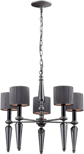"20""w Beaumont 5-Light Chandelier Graphite"