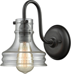 Elk Lighting Binghamton 1-Light Wall Sconce Oil Rubbed Bronze/Clear Glass 652251