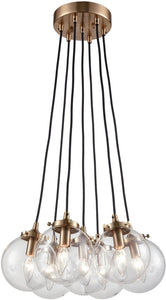 Elk Lighting Boudreaux 7-Light Chandelier Satin Brass/Clear Glass 144657
