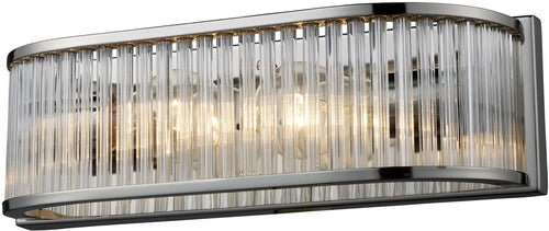 "14""w Braxton 2-Light Vanity Polished Nickel"