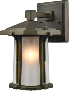 Elk Lighting Brighton 1-Light Outdoor Wall Light Smoked Bronze 87090/1