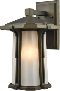 Elk Lighting Brighton 1-Light Outdoor Wall Light Smoked Bronze 87091/1