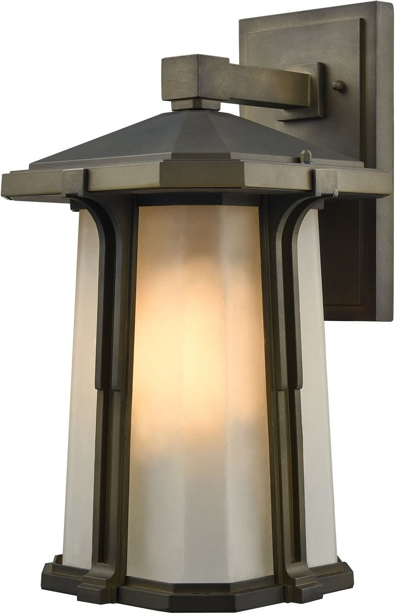 "16""H Brighton 1-Light Outdoor Wall Light Smoked Bronze"