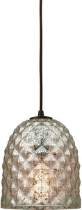 Elk Lighting Brimley 1-Light Pendant Oil Rubbed Bronze/Raised Diamond Glass 107651