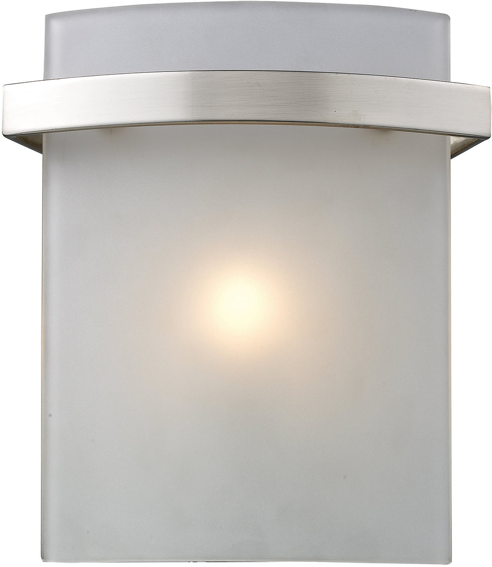 "7""w Briston 1-Light Halogen Bath Vanity Satin Nickel with Translucent Glass"