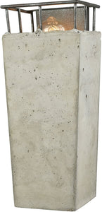Brocca 1-Light Wall Sconce Silverdust Iron/Concrete Shade