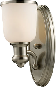 "5""w Brooksdale 1-Light Wall Sconce Satin Nickel"