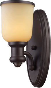 "5""w Brooksdale 1-Light Wall Sconce Oiled Bronze"