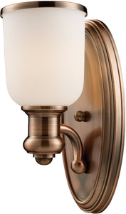 Elk Lighting Brooksdale 1-Light Wall Sconce Antique Copper 661801