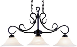 Elk Lighting Buckingham 3-Light Billiar/Pool/Kitchen Island Matte Black 247BK