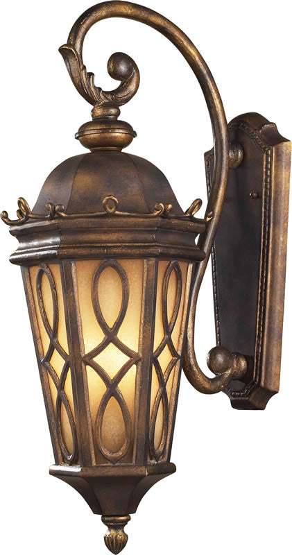 "27""h Burlington Junction 3-Light Outdoor Wall Lantern Hazelnut Bronze/Amber Scavo"