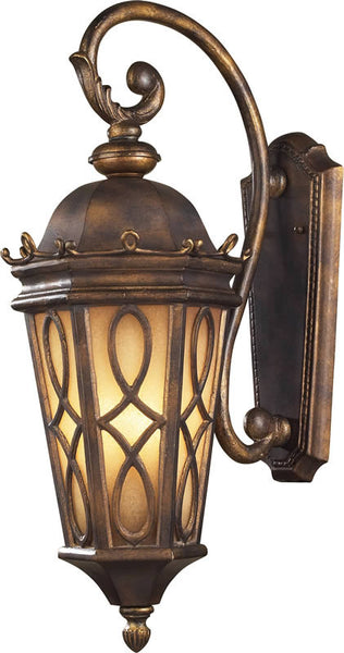 Elk Lighting Burlington Junction 3-Light Outdoor Wall Lantern Hazelnut Bronze/Amber Scavo 420023