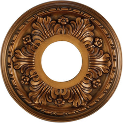 "11""w Acanthus Ceiling Medallion Antique Bronze"