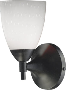 Elk Lighting Celina 1-Light Wall Sconce Dark Rust with Simple White Glass 101501DRWH