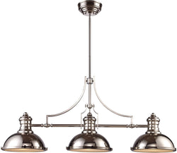 Elk Lighting Chadwick 3-Light Chandelier Polished Nickel 66115-3