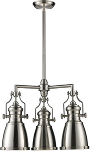 Elk Lighting Chadwick 3-Light Chandelier Satin Nickel 661203