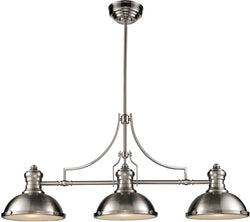 Elk Lighting Chadwick 3-Light Chandelier Satin Nickel 66125-3