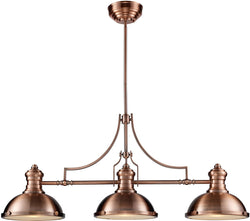 Elk Lighting Chadwick 3-Light Chandelier Antique Copper 66145-3