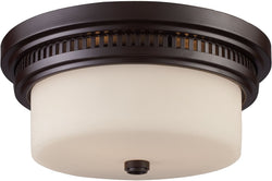 Elk Lighting Chadwick 2-Light Flush Mount Oiled Bronze 66631-2
