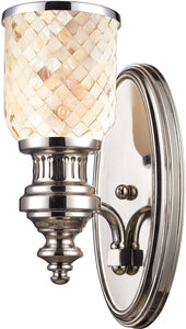 Elk Lighting Chadwick 1-Light Wall Sconce Polished Nickel 664101