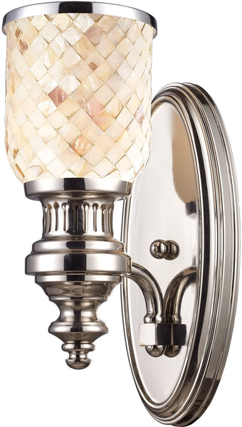 "5""w Chadwick 1-Light Wall Sconce Polished Nickel"