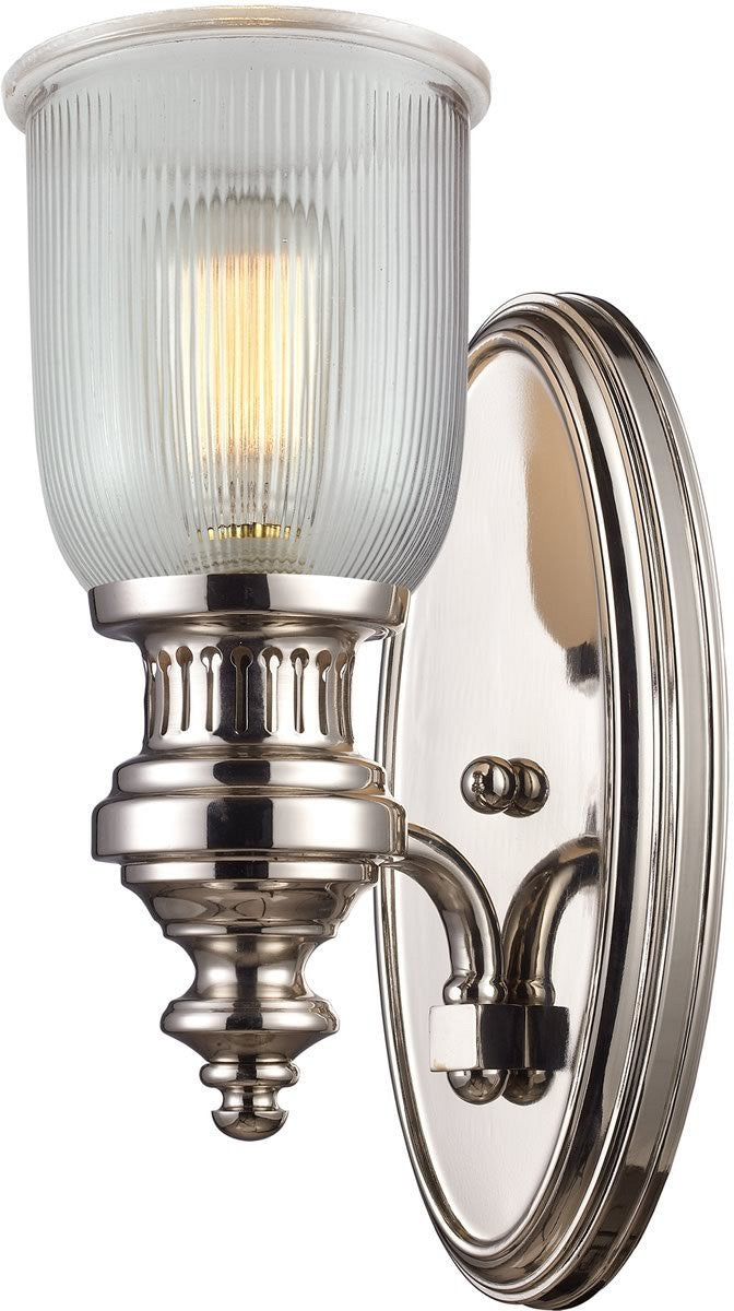 Chadwick 1-Light Wall Sconce Polished Nickel
