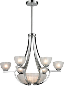 Elk Lighting 26 inchw 9-Light Chandelier Satin Nickel 1176463