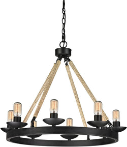"31""w 8-Light Chandelier Polished Chrome"