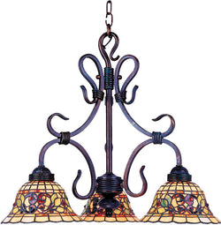 Elk Lighting Tiffany Buckingham 3-Light Chandelier Vintage Antique 363VA