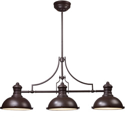 Elk Lighting 47 inchw 3-Light Chandelier Satin Nickel 661353
