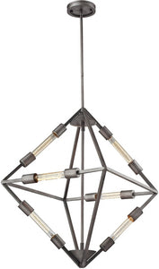 Elk Lighting 20 inchw 6-Light Chandelier Satin Nickel 668946