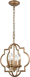 Elk Lighting Chandette 4-Light Chandelier Matte Gold 318264