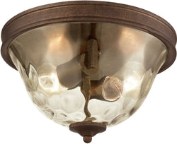 Elk Lighting Cheltham 2-Light Flush Mocha/Clear Water Glass 460282