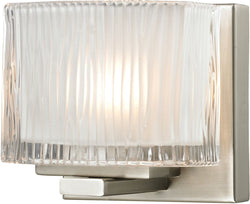 Elk Lighting Chiseled Glass 1-Light Bath Light Brushed Nickel 11630/1