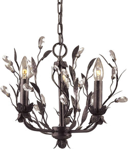 "16""w Circeo 3-Light Chandelier Deep Rust"