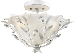 Elk Lighting Circeo 2-Light Semi Flush Mount Antique White 18111/2