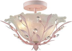 Elk Lighting Circeo 2-Light Semi Flush Mount Light Pink 18151/2