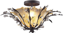 "24""w Circeo 2-Light Semi-Flush Mount Deep Rust"