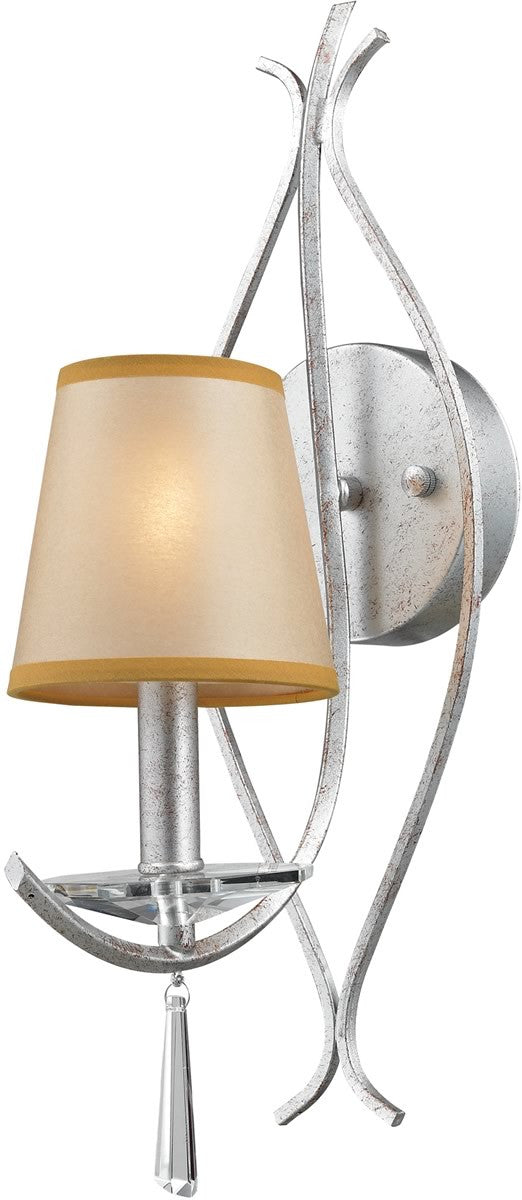 "5""w Clarendon 1-Light Wall Sconce Silver"