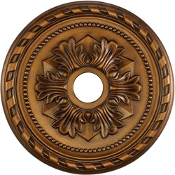 "22""w Corinthian Ceiling Medallion Antique Bronze"