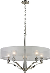 Elk Lighting Corisande 5 Light Chandelier Polished Nickel 312925
