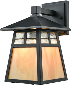 Elk Lighting Cottage 1-Light Outdoor Wall Light Matte Black 87050/1