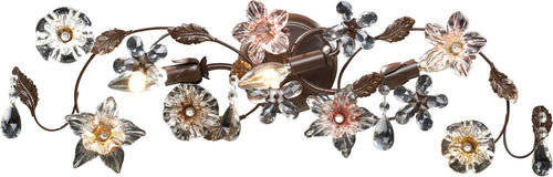 Elk Lighting Cristallo Fiore 3-Light Bath Vanity Deep Rust with Transparent Glass 200753